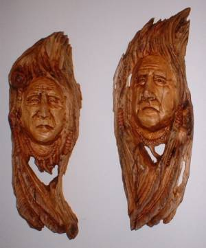 Tree spirits portraits heberts carvings